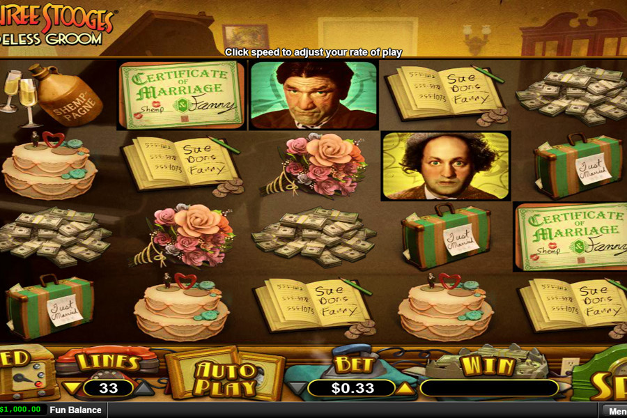 Play The Three Stooges - Brideless Groom Slot Machine Free with No Download